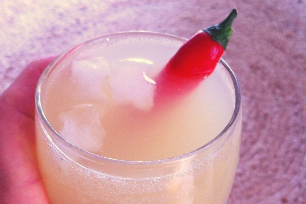 pineapple drink with chilli