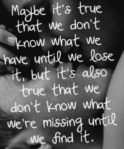 We didn't know we were missing...