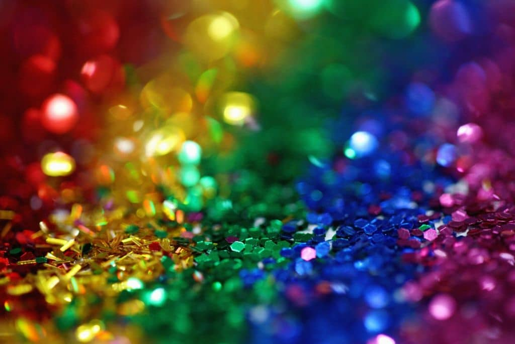colourful glitter