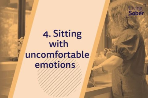 text 'sitting with uncomfortable emotions'