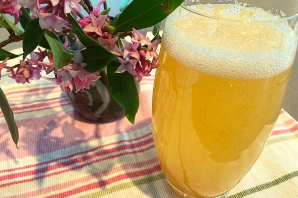 Peach and Honey Cordial